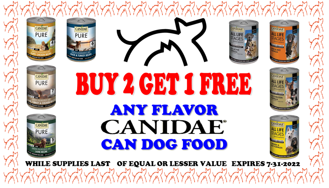 canidae can dog food sale coupon