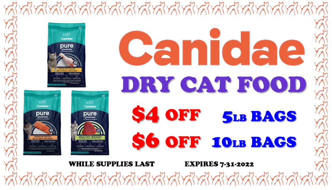 canidae dry cat food sale coupon