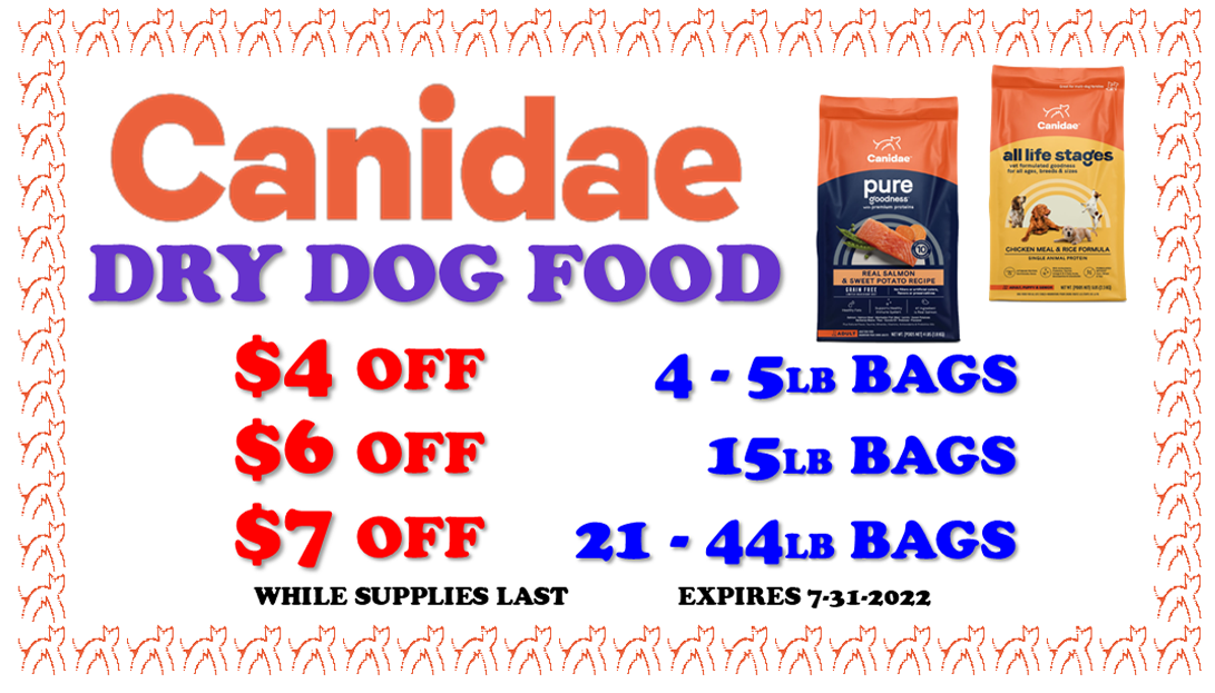 canidae dry dog food sale coupon